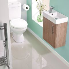 Milano Oak Minimalist Wall Hung Cloakroom Suite