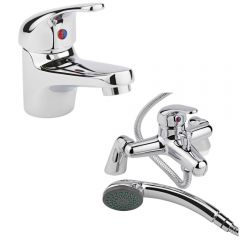 Milano Encore Basin & Shower Bath Mixer Tap Set