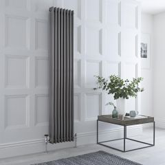 Milano Windsor - 3 Column Radiator - Raw Metal Lacquered 1800mm x 383mm
