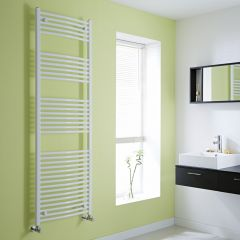 Milano Curved White Heated Towel Rail 1800mm x 600mm