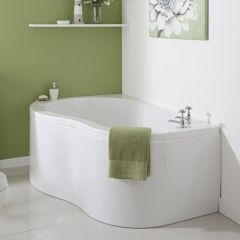 Milano 1500 x 1000mm Nuvo Corner Bath LH with Front Panel