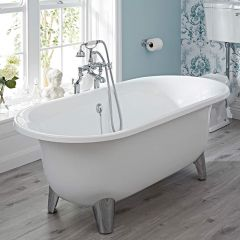 Milano Mellor Contemporary Oval Shaped Free Standing Bath with Choice of Feet