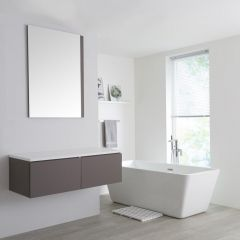 Milano Oxley - 1200mm Grey Vanity Unit with White Top