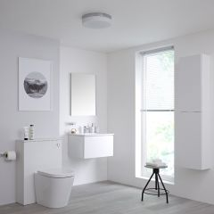 Milano Oxley 600mm Vanity Unit with WC Unit, Storage Unit and Mirror