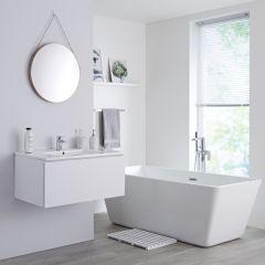 Milano Oxley - 800mm Modern Vanity Unit with Basin - Matt White