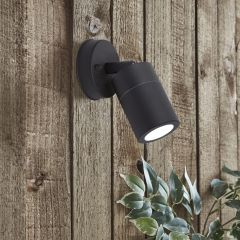 Biard Le Mans IP44 Adjustable Outdoor Wall Light - Black