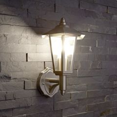 Biard Cannes Outdoor Wall Lantern - Brushed Steel
