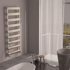 Milano Passo - Aluminium Designer Heated Towel Rail 1590 x 500mm Brushed Chrome