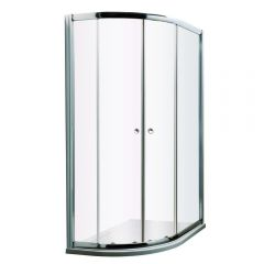 Milano Hutton Complete Offset Quadrant Shower Enclosure With Tray & Waste 1200 x 800mm LH