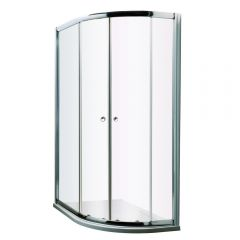 Milano Hutton Complete Offset Quadrant Shower Enclosure With Tray & Waste 1200 x 800mm RH