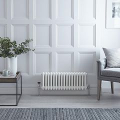Milano Windsor - Traditional 17 x 3 Column Radiator Cast Iron Style White 300mm x 788mm