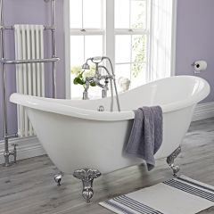 Milano Double Ended Slipper Freestanding Bath 1750 x 720mm With Choice Of Feet