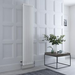Milano Windsor - Traditional 8 x 2 Column Radiator Cast Iron Style White 1800mm x 360mm