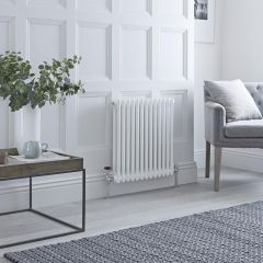 Milano Windsor - Traditional 13 x 2 Column Radiator Cast Iron Style White 600mm x 600mm