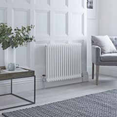 Milano Windsor - Traditional 17 x 2 Column Radiator Cast Iron Style White 600mm x 785mm