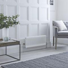 Milano Windsor - Traditional 13 x 3 Column Radiator Cast Iron Style White 300mm x 600mm
