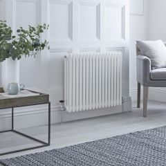Milano Windsor - Traditional 17 x 3 Column Radiator Cast Iron Style White 600mm x 790mm