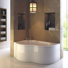 Premier Estuary 1500mm x 1000mm Corner Bath & Panel Left Hand