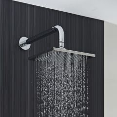 Milano 200mm Square Stainless Steel Shower Head and Arm