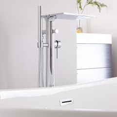 Hudson Reed Freestanding Waterfall Bath Shower Mixer Tap