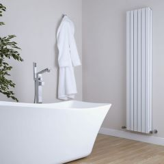 Milano Capri - White Vertical Flat Panel Double Designer Radiator 1780mm x 354mm