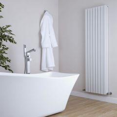 Milano Capri - White Vertical Flat Panel Double Designer Radiator 1780mm x 472mm