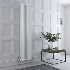 Milano Windsor - Traditional White 2 Column Radiator 1800mm x 470mm (Vertical)
