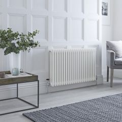 Milano Windsor - Traditional White 3 Column Radiator 600mm x 990mm (Horizontal)