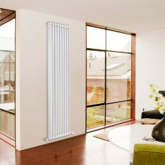 Sterling Edessa - Traditional White 2 Column Vertical Designer Radiator 1800mm x 425mm