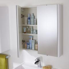 Premier 2 Door Bathroom Mirror Cabinet 600mm