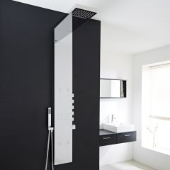 Milano Chrome Exposed Thermostatic Shower Tower