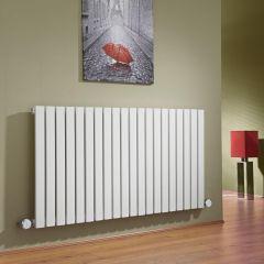 Milano Capri - White Horizontal Flat Panel Electric Designer Radiator 635mm x 1180mm