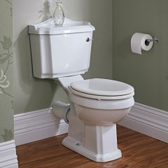 Milano Windsor Toilet Pan and Cistern with Wood Seat