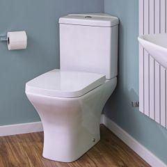 Milano Longton Corner Toilet with Soft Close Seat