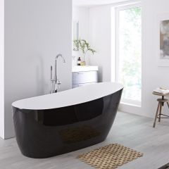 Milano Select 1730mm Freestanding Single Ended Bath - Black