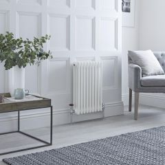 Milano Windsor - Traditional White 3 Column Radiator 600mm x 405mm (Horizontal)