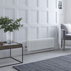 Milano Windsor - Traditional White 4 Column Radiator 300mm x 990mm (Horizontal)