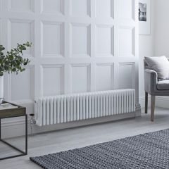 Milano Windsor - Traditional White 4 Column Radiator 300mm x 1485mm (Horizontal)