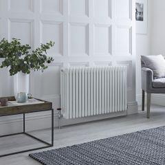 Milano Windsor - Traditional White 4 Column Radiator 600mm x 990mm (Horizontal)