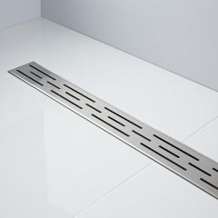 Milano 800mm Linear Stainless Steel Shower Drain with Grate