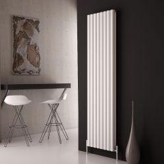 Milano Aruba Ayre - Aluminium White Vertical Designer Radiator 1800 x 470