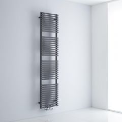 Milano Via - Anthracite Bar on Bar Central Connection Heated Towel Rail 1800mm x 400mm