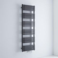 Milano Bow - Anthracite D Bar Heated Towel Rail 1533mm x 500mm