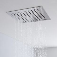 Milano 280mm Square Ceiling Tile Fixed Shower Head Chrome