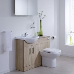 Milano 1040mm Classic Oak Vanity Combination Unit WC With Tap & Waste