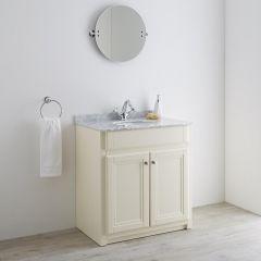 Milano Edgworth 800mm Traditional Vanity Base Unit - Ivory