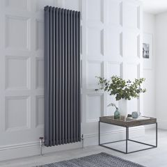 Milano Windsor - 3 Column Radiator - Anthracite 1800mm x 563mm