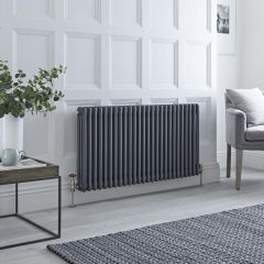 Milano Windsor - 3 Column Radiator - Anthracite 600mm x 1193mm
