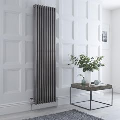 Milano Windsor - 3 Column Radiator - Raw Metal Lacquered 1800mm x 473mm