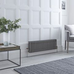 Milano Windsor - 3 Column Radiator - Raw Metal Lacquered 300mm x 1013mm